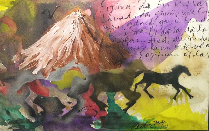 Nazım'ın Atları Erzincan, 83x130cm, 2014